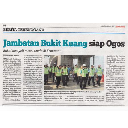 Minister Visitor to Jambatan Bukit Kuang, Siap Ogos by Sinar Harian, 27 Jan 2014