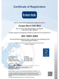 ISO 14001:2004 Registration Certificate