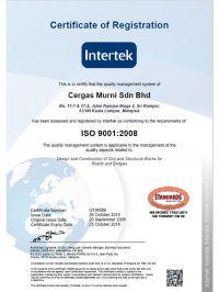 ISO 9001:2008 Registration Certificate