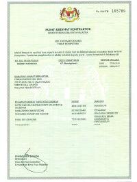 PKK Registration Certificate
